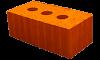 Кирпич керамический рядовой полнотелый М-150 Тула полуторный  (в под. 320шт)